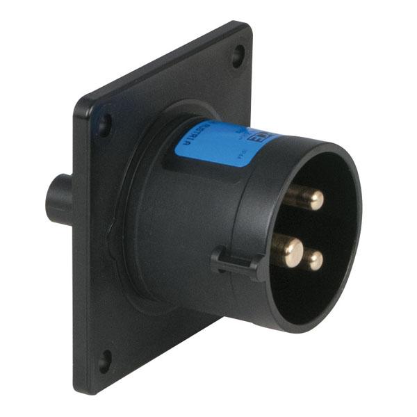 PCE CEE 16 A/240 V - 3-pin Socket male Schwarz, IP44