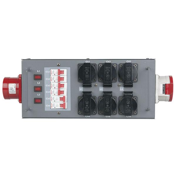 Showgear Powersplit 32 CEE 32 A Leistungsteiler mit Sicherung