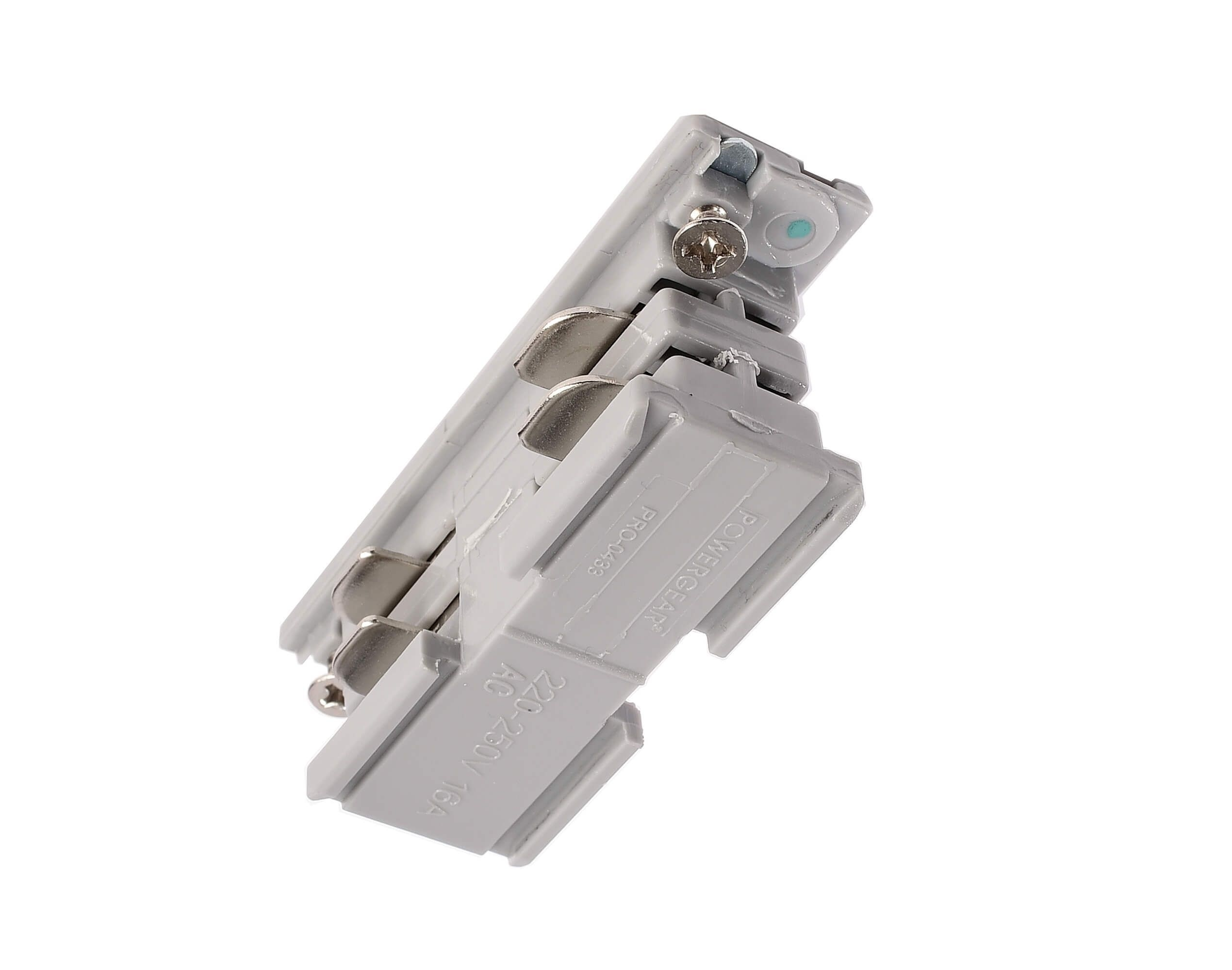 Stromschiene 3-Phasen 230V Elektrischer Verbinder Grau