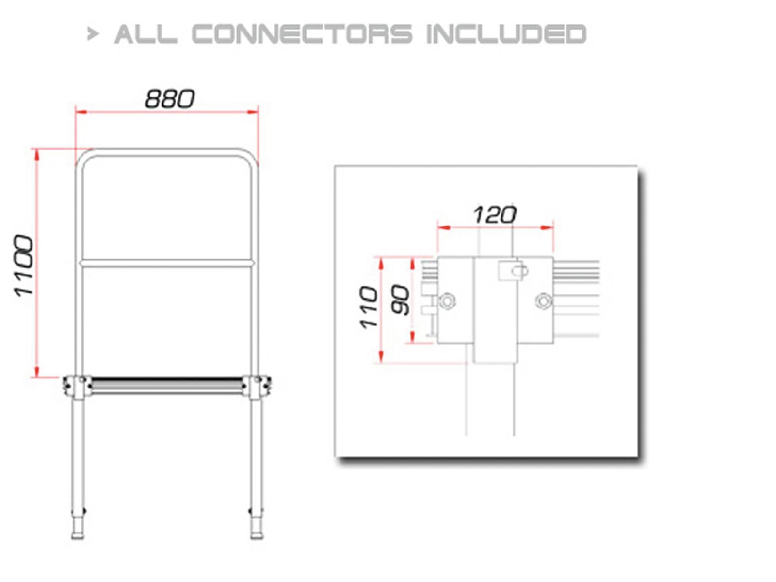 GUIL TMQ-01/440 Bühnengeländer 88cm (Aluminiumversion)