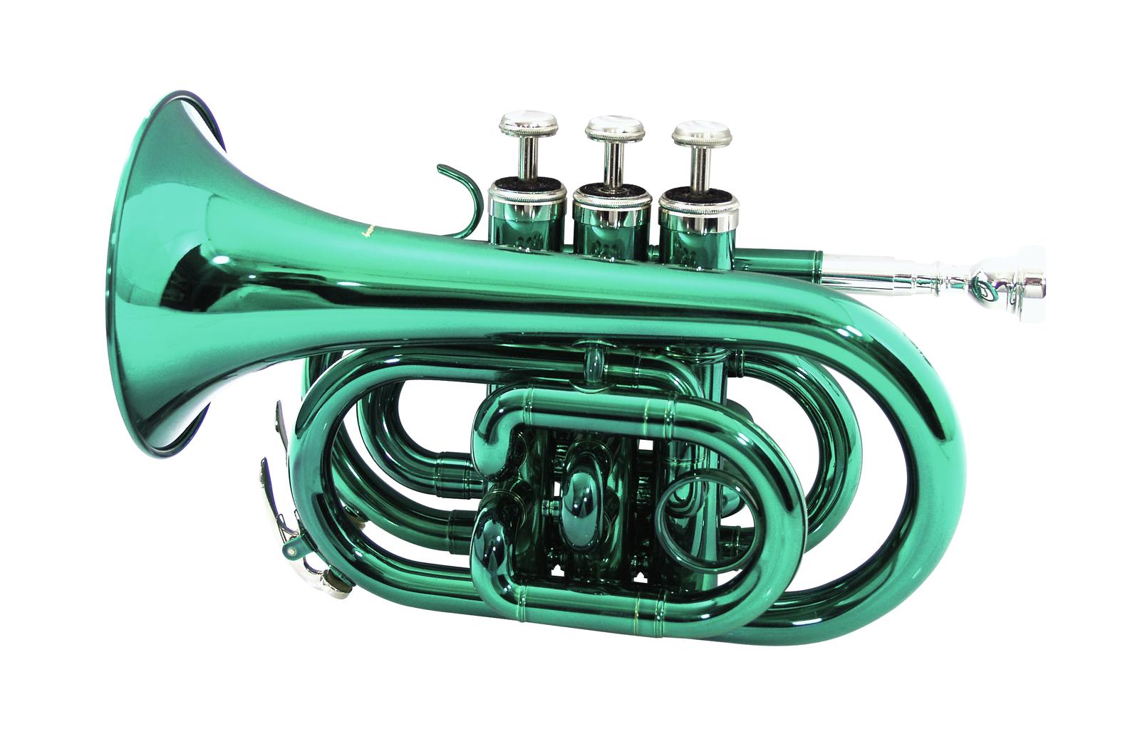 DIMAVERY TP-300 B-Pocket-Trompete, grün