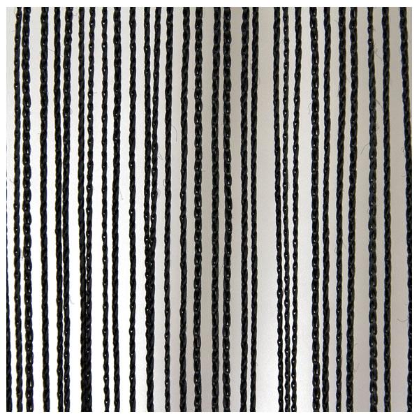 Wentex String Curtain Black, 220 gram/m² 4m lang, Schwarz