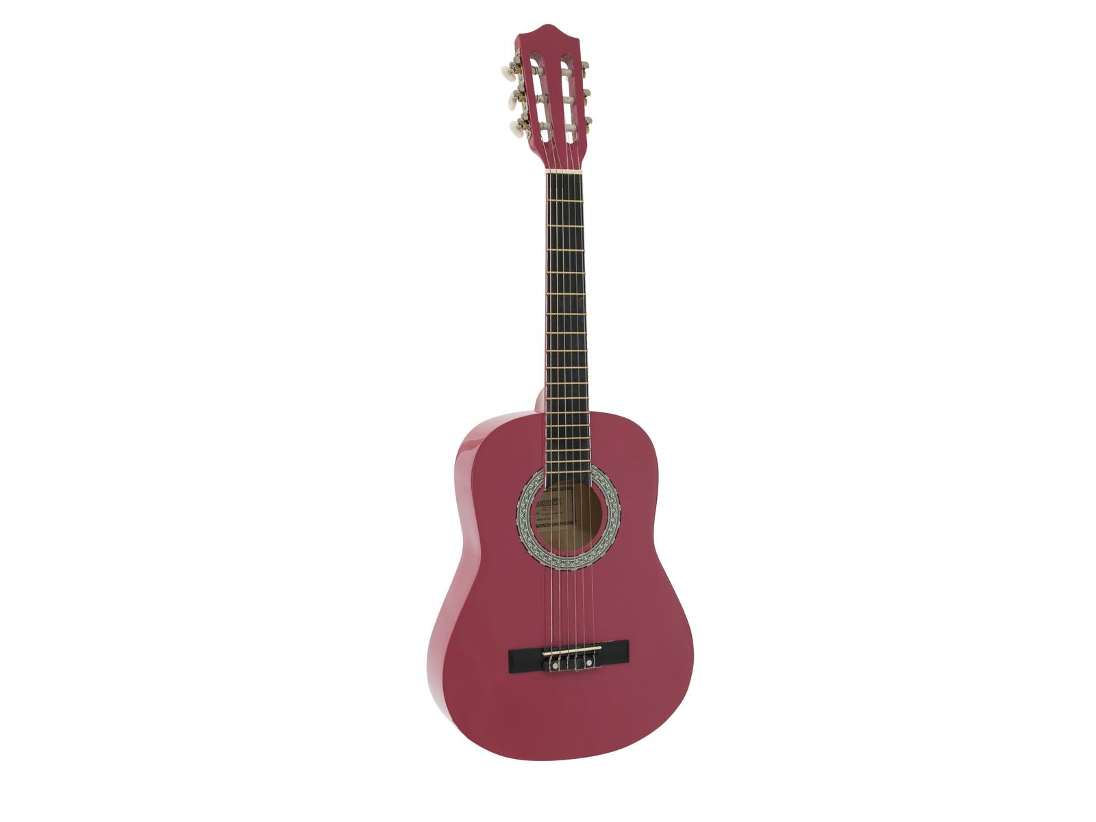 DIMAVERY AC-303 Klassikgitarre 1/2, pink