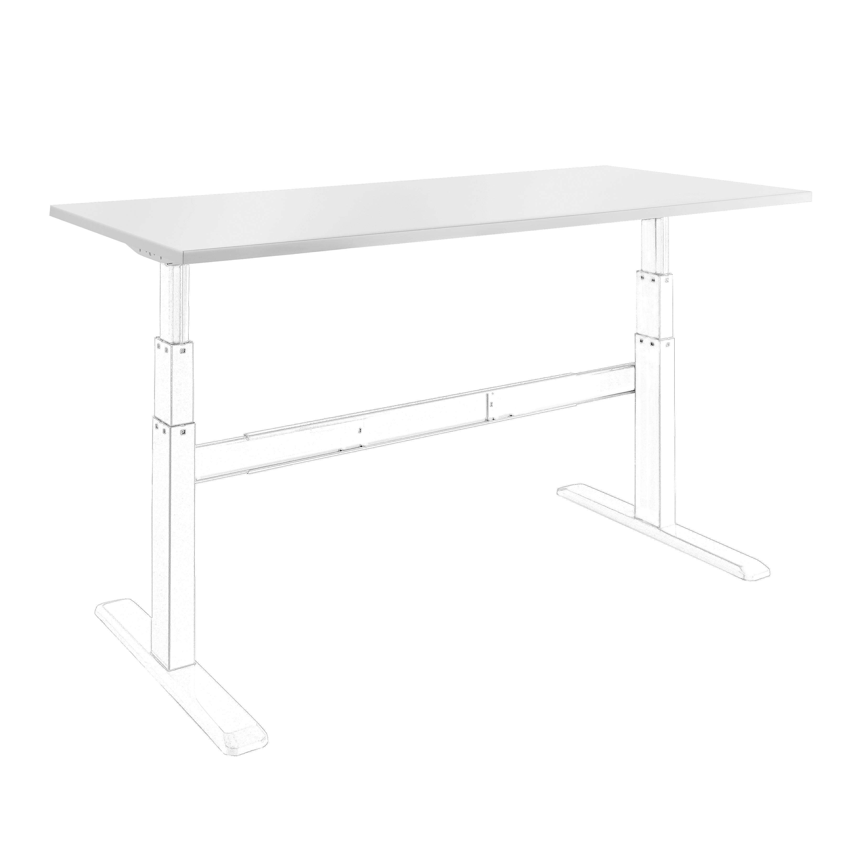 celexon Tischplatte 150 x 75cm für Adjust- Schreibtisch, weiß