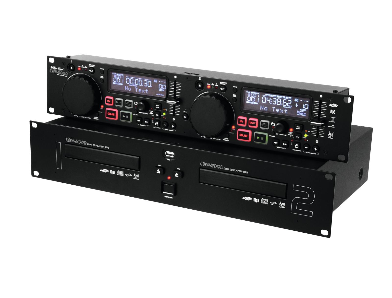 OMNITRONIC CMP-2000 Dual-CD-MP3-Player