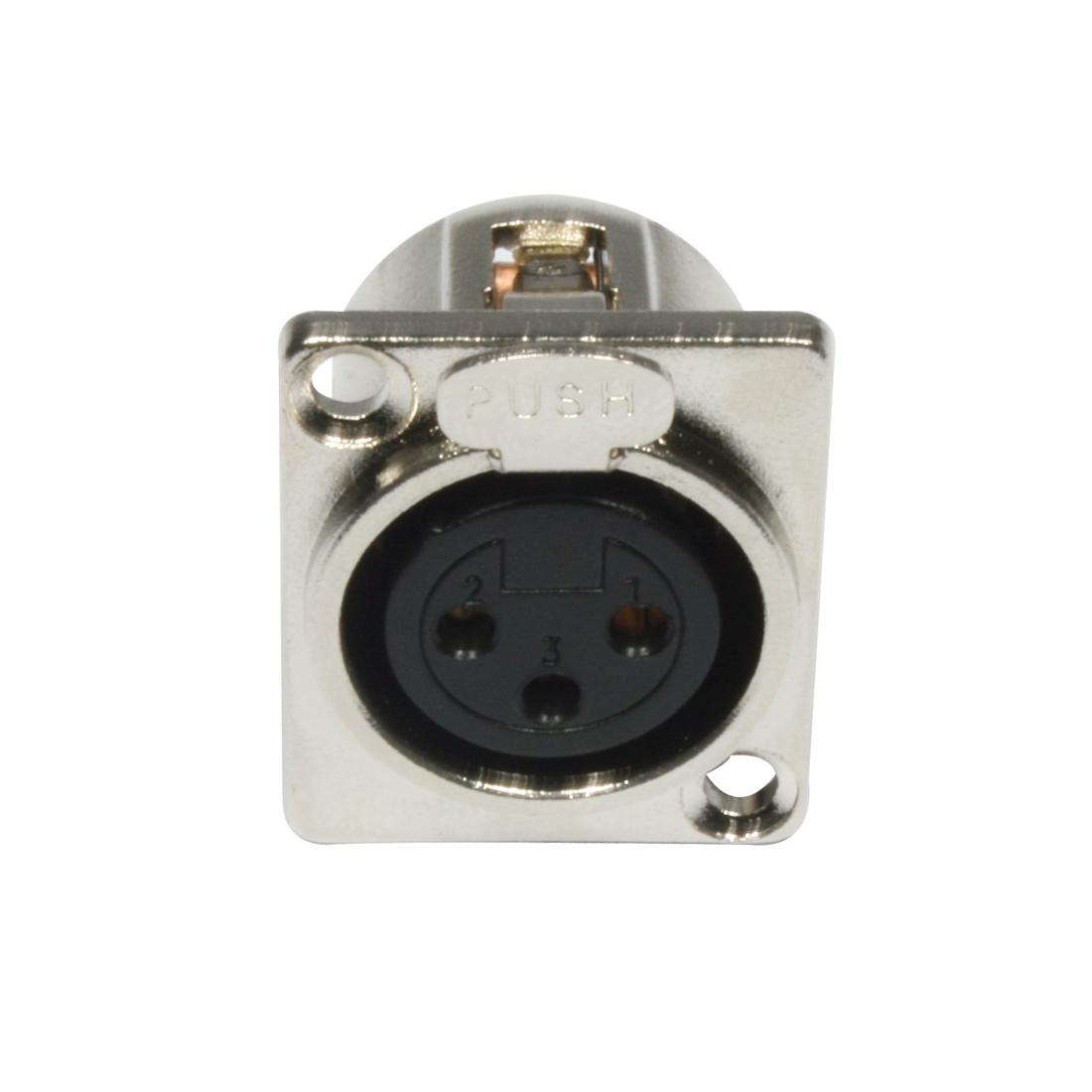 Accu Cable AC-C-XF3 XLR 3pin female panel metal