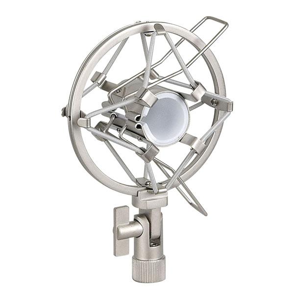 Showgear Microphone Holder 22-24 mm 22-24 mm, grau, Anti-Shock-Halterung